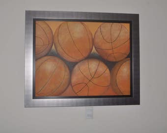 Basketballs/Original Wall Art