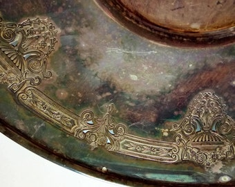 Rogers Silver Plate Tray Platter Plate 1881 Rogers