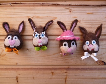 Funny felt Easter Bunny to the hang or place