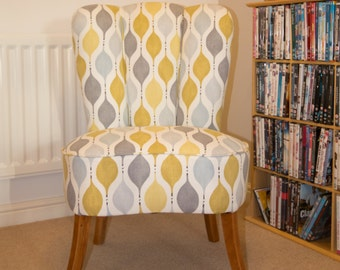 Art Deco Fluted Back Bedroom Chair