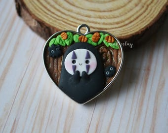 No Face Polymer Clay Charm/ Pendant