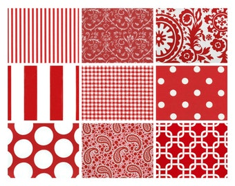 "Premier Prints ""Lipstick"" (Red) Remnants/Scrap Packs - Free Shipping"