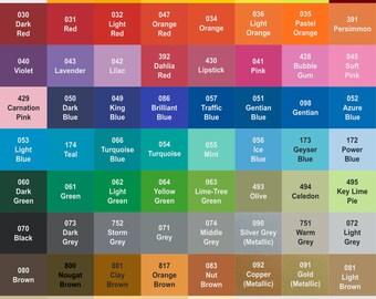 Oracal 631 Indoor Matte Vinyl Sheets - 69 Color Choices ~ VINYL631