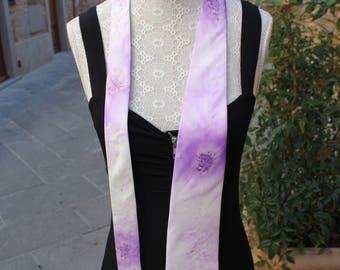 Silk tie, Tie for men, Purple tie, Artsy tie, Fun tie, Hand painted tie, Twill Silk tie, Made in Italy tie, Hand made tie, Unisex tie.