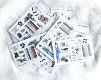 Misscut Grab Bags planner stickers- WEEKLY STICKER KIT- Erin Condren planner stickers