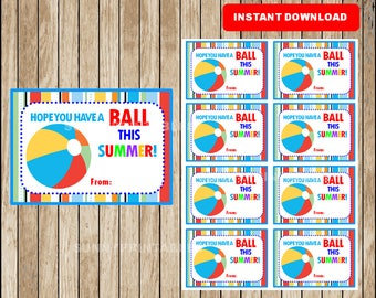 Epic image pertaining to have a ball this summer printable