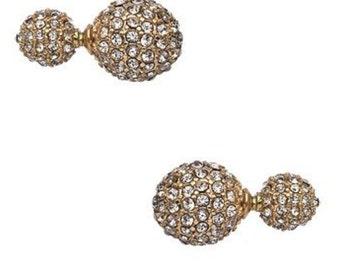 Crystal Disco Ball Earrings