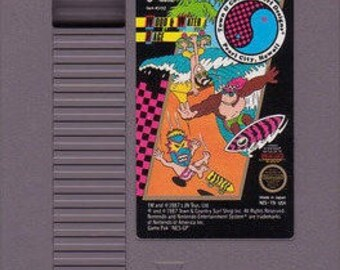 Vintage T C Surf Designs Wood & Water Rage Nintendo Nes Game Cartridge