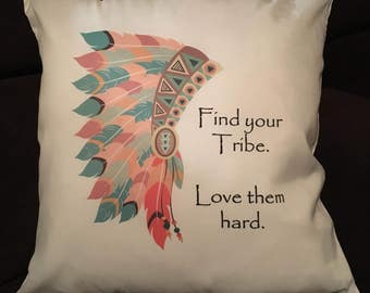 Tribal cushion, home decor, living room, tribal, watercolour, sublimation, cushion cover, customise