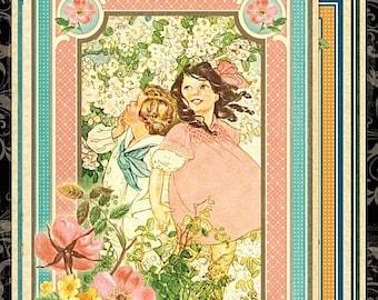 Graphic 45 Childrens Hour Ephemera & Journaling Cards