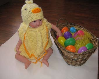 Crochet Little Chick Costume
