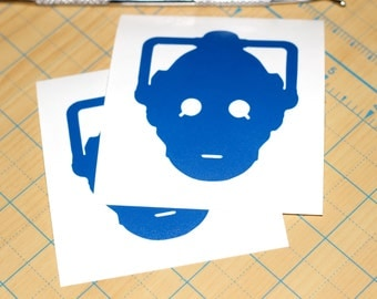 Dr. Who Cyberman Sticker | Doctor Who Decal | Cybermen Decal