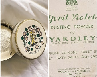 Vintage April Violets Dusting Powder by Yardley