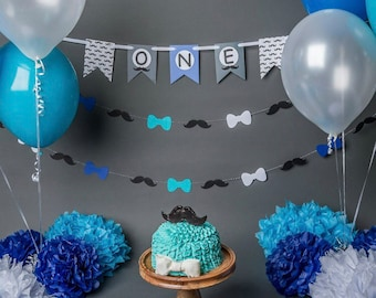 Moustache and bow tie banner