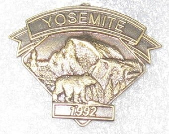 Yosemite National Park California Hat Lapel Pin Vintage collectible. National Landmark 1992. Reduced Flat Rate Shipping