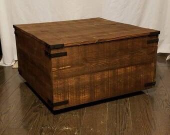 Handmade rustic coffee table