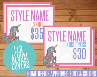 SALE! LLR Facebook Album Covers, All Style Cards, Unicorn, Digital Download, LLR, Home Office Approved, llr Marketing, Images, Album Covers