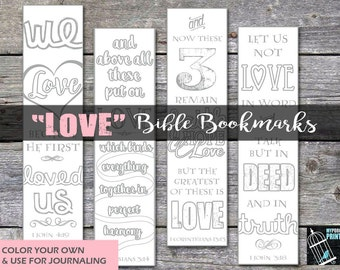 Christian bookmarks etsy love bible bookmarks bible journaling mothers day gift devotional gift tag negle Choice Image