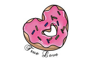 donut heart pinback button
