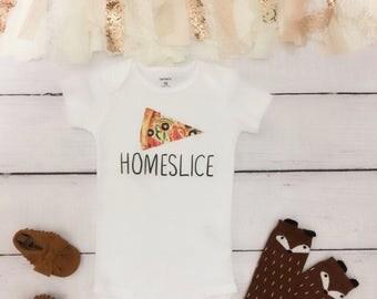 Homeslice baby bodysuit,Pizza baby bodysuit, funny baby bodysuit, pizza bodysuit, pizza bodysuit
