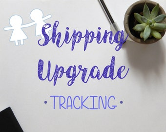 shipping udgrade - tracking number