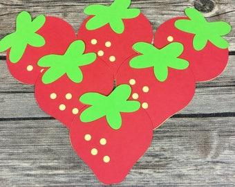 Strawberry Die Cuts, DIY, Scrapbook, Birthday Decor, Baby Shower Decor