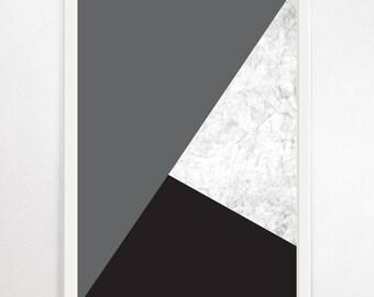 Geometric, Abstract Art, Geometric Print, Minimalist, Scandi Print, Large Abstract Art, Geometric Wall Art, Large Wall Art, Modern Art