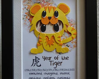 Chinese Zodiac Picture Frame (Year of the tiger)