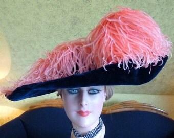 ESTHER MEYER Titanic Era Hat, antique Hat, Edwardian Hat, Paris, ca. 1912