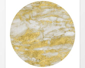 Golden Marble II - Contemporary Art Print - Square Prints - Framed Art Prints - Marble Art Print - Series Art Prints