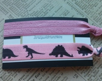 Dinosaur Elastic Hair Ties, party favors, stocking stuffers