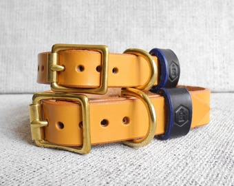 Personalised Leather Dog Collar - London Series (London Tan)