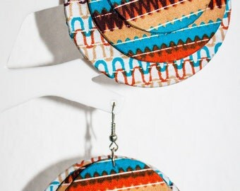 Multicolored earrings made of wax