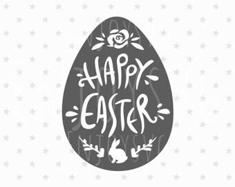 Happy Easter SVG Easter svg Easter svg file Easter egg svg Happy Easter svg file Easter bunny svg Easter Egg svg Bunny svg Easter cut file