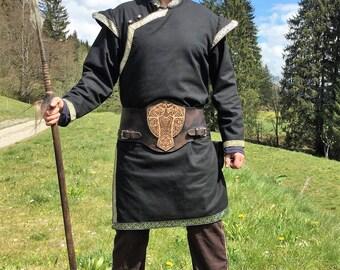 "Caftan tunic ""Kahn"" with shoulder medieval LARP"