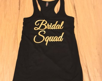 Bridal Squad tank in Gold.