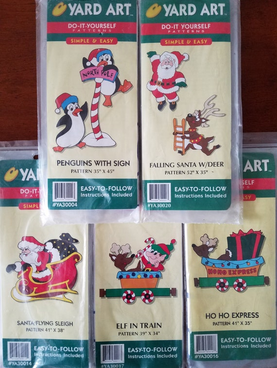 5 christmas yard art patterns woodworking santa flying for Christmas yard signs patterns