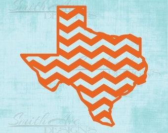 Chevron Texas, States, USA, SVG File, Quote Cut File, Silhouette or Cricut File, Vinyl Cut File