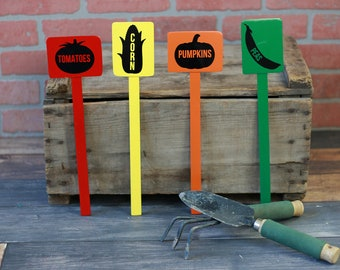 Garden markers, garden labels, vegetable markers, vegetable garden maker, garden marker, vegetable marker, garden label, garden metal marker