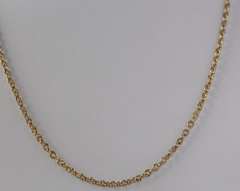 Natural 14K Solid Yellow Gold Necklace