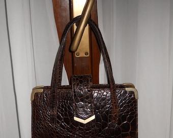 Authentic vintage bag - genuine reptile