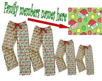 Personalized Family Christmas Pajamas, Comfy Jersey Custom Family PJs, Matching Family Christmas Pajamas, Christmas Pajamas, Christmas PJs