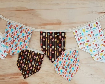 CLEARANCE | Square Fabric Bunting | Into the Woods Flags | Baby Shower Bunting | Woodland Bunting | Garland | Woodland Square Bunting