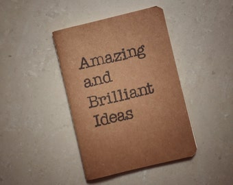 Amazing and Brilliant Ideas | A6 Kraft Notebook