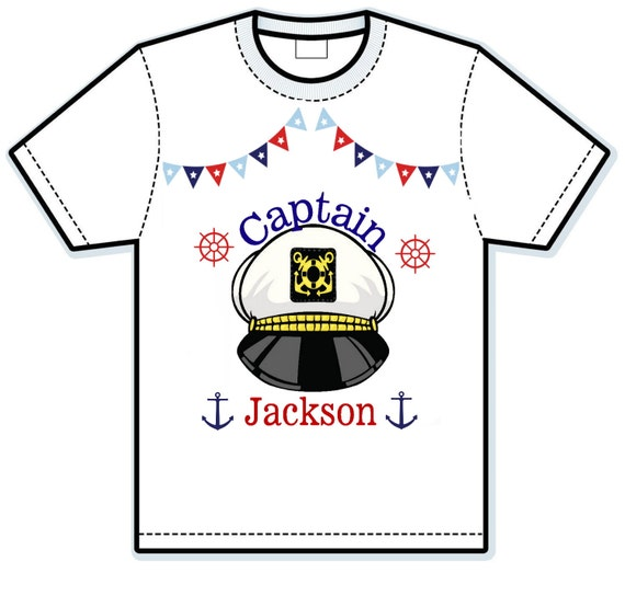 Captain nautical hat personalized shirt