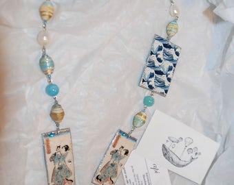 "Necklace ""Japanese cats""-""Japanese cats"" necklace"