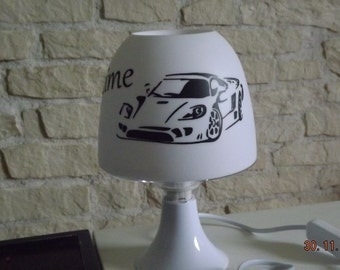 Bedside light car with first name
