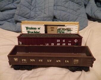Lionel 3 pcs. rolling stock 0-027