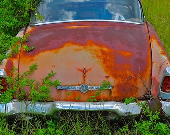 55 Studebaker President, Classic Car Photography, Abandoned Car, Rusted Car, Man Cave Art, Vintage Car, Gifts for Him, Vintage Studebaker,