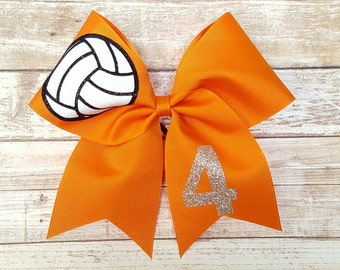 Custom Volleyball Bow, YOU PICK COLORS, Team Bows, Volleyball, sports bows, volleyball hair bows